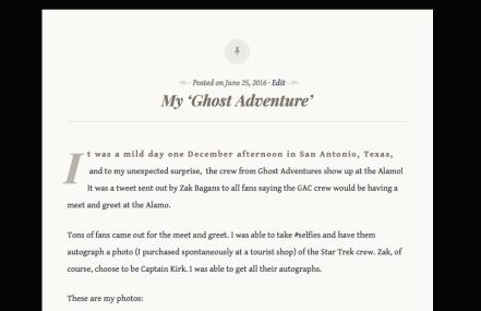 My Ghost Adventure