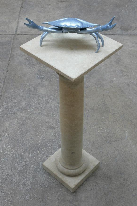 Karkinos, with stone plinth, Veronica Wilton