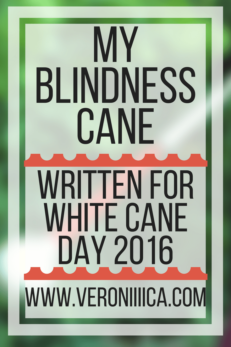My experiences with a blindness cane, written for white cane day 2016