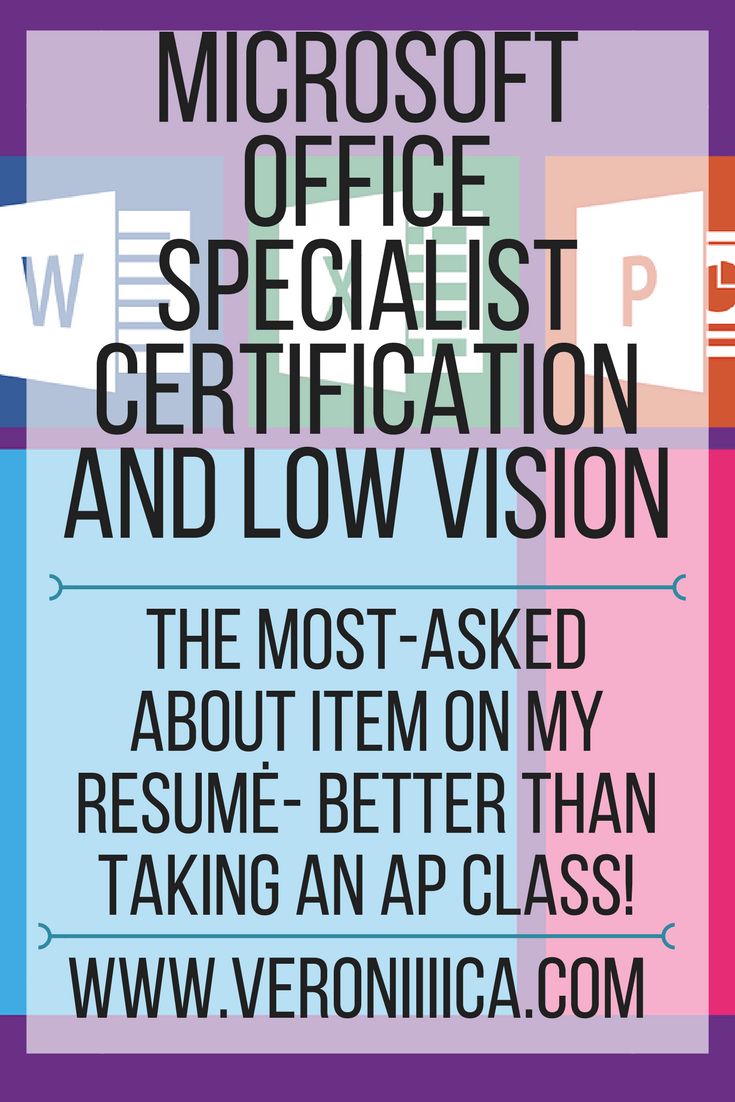 Microsoft Office Certifications And Vision Impairment