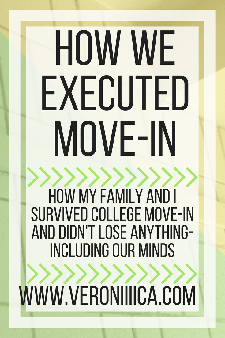 How my family and I survived college move-in and didn't lose anything- including our minds