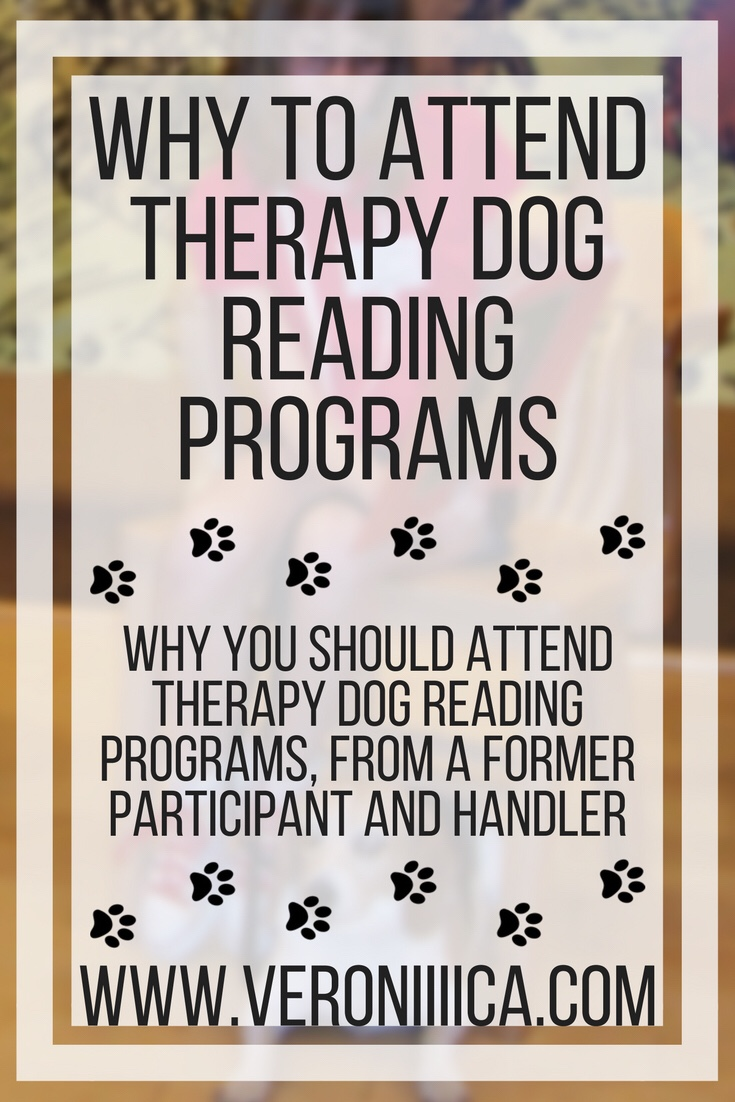 Why to attend therapy dog reading programs, from a former participant and handler