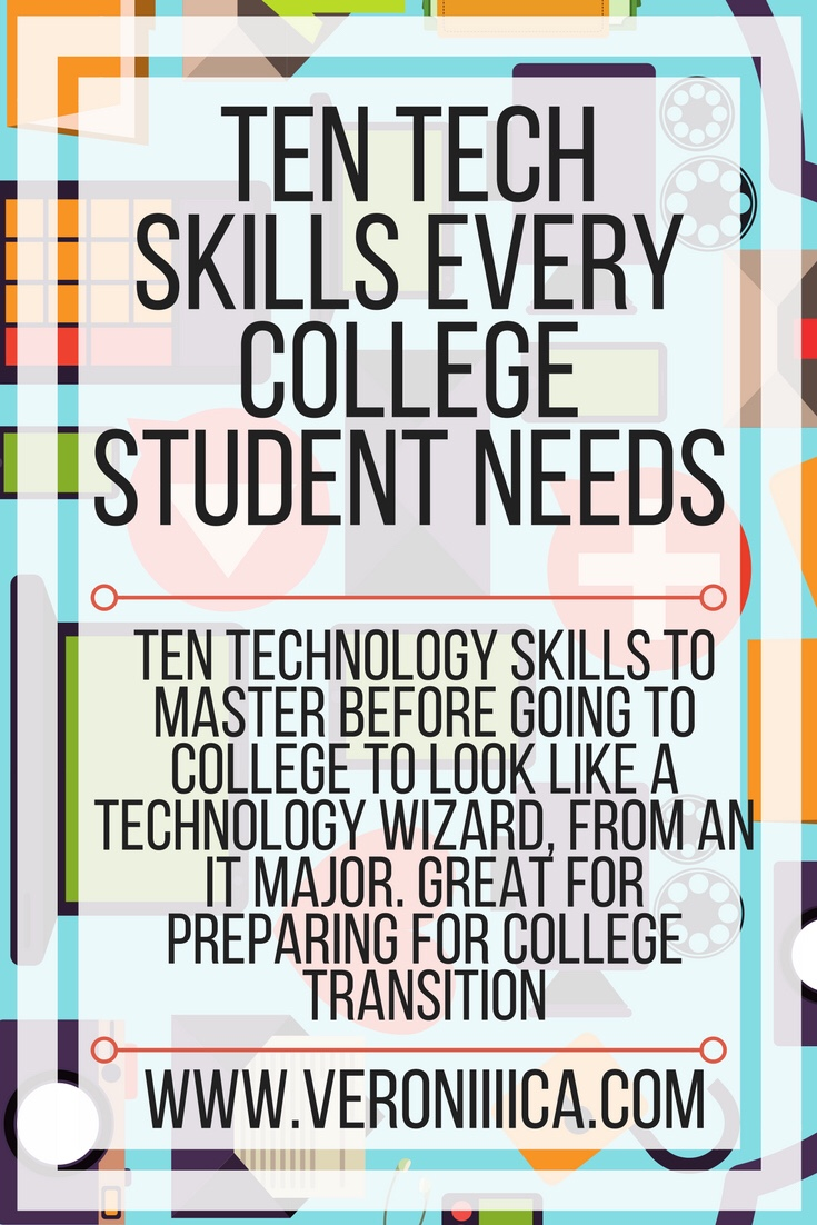 Ten technology skills to master before going to college to look like a technology wizard, from an IT major. Great for preparing for college transition