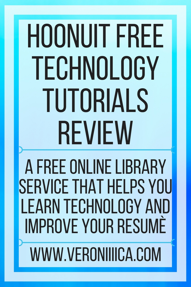 Hoonuit free technology tutorials review. A free online library service that helps you learn technology and improve your resumè
