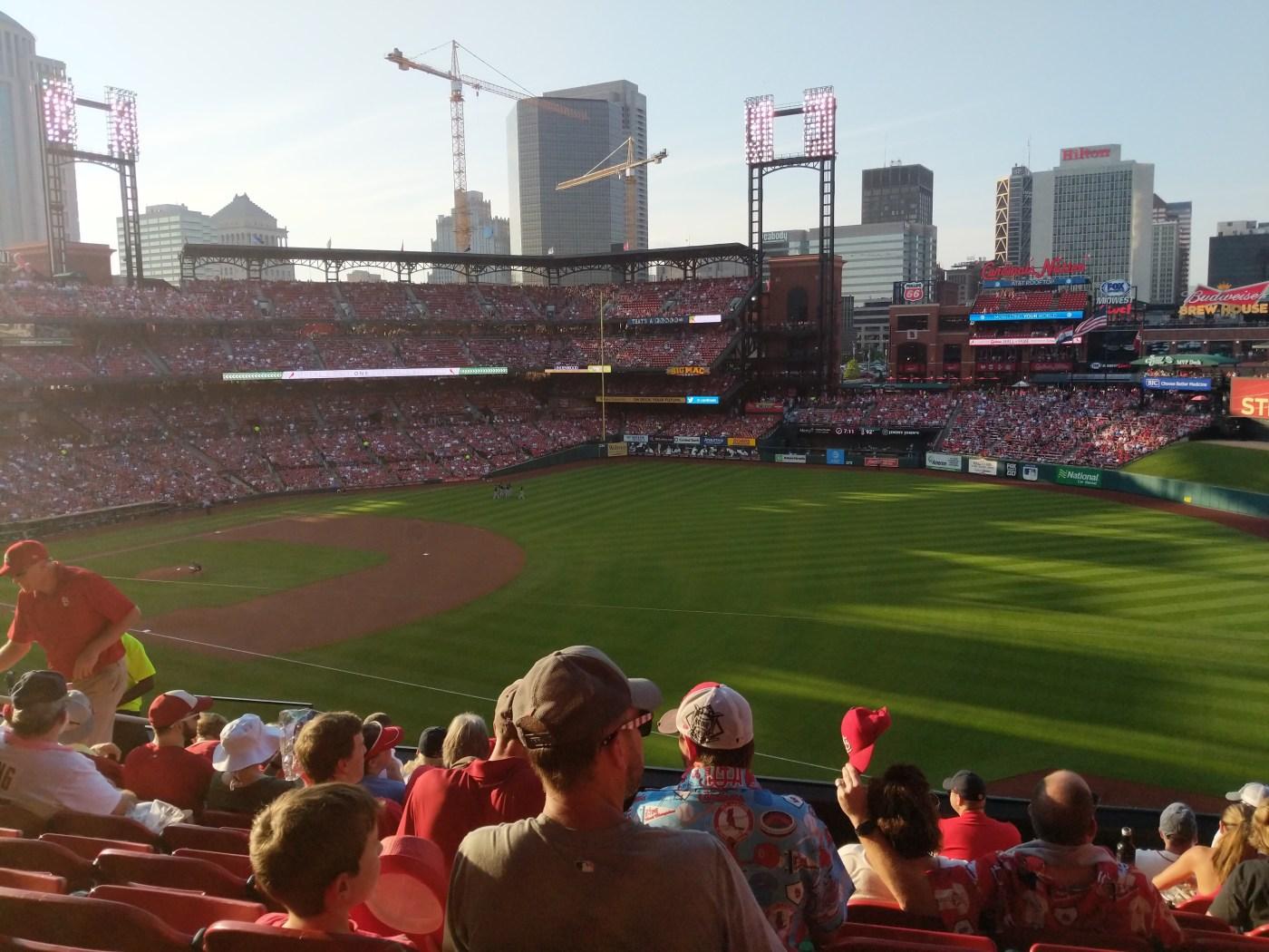 Picture of baseball diamond on far left side of image