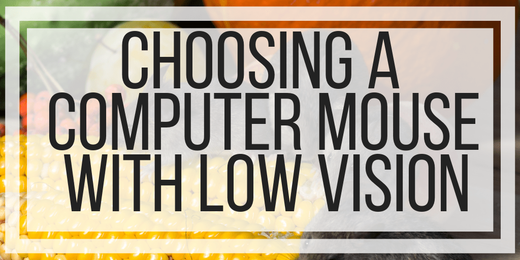 Choosing A Computer Mouse With Low Vision