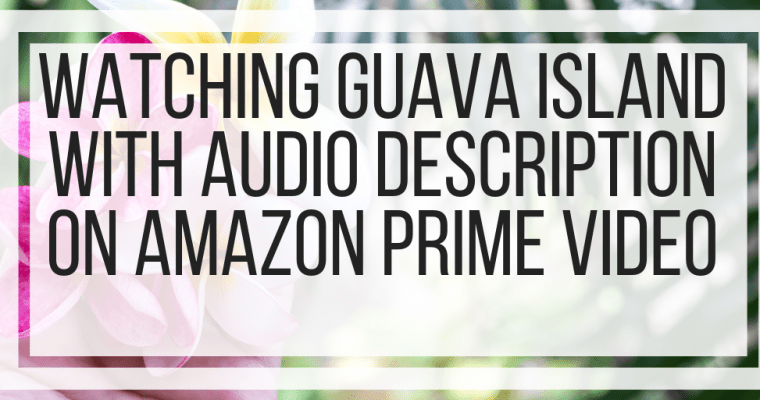 Watching Guava Island With Audio Description on Amazon Prime Video
