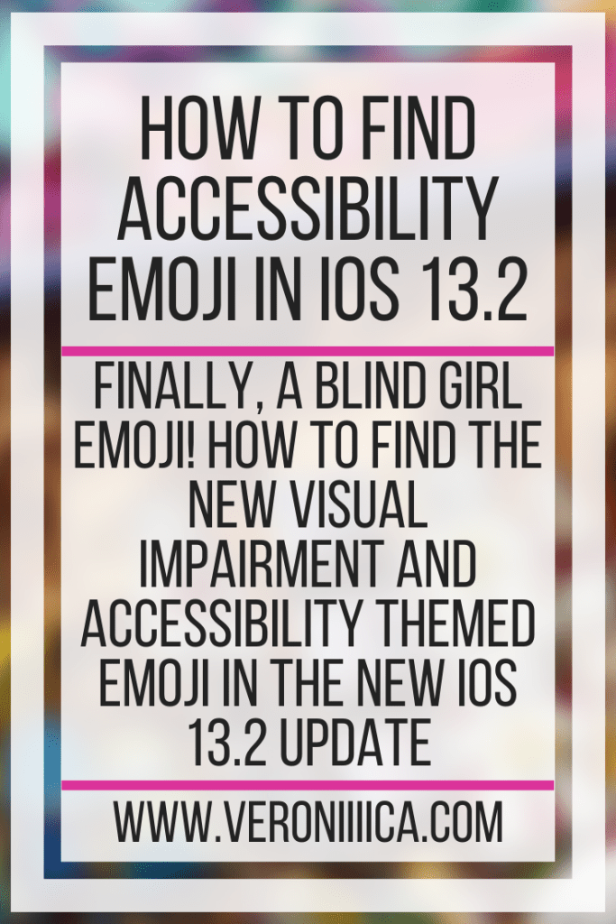 How To Find Accessibility Emojis In iOS 13.2. Finally, a blind girl emoji! How to find the new visual impairment and accessibility themed emoji in the new iOS 13.2 update