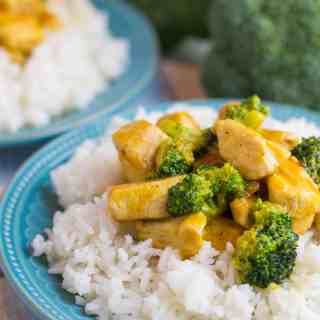 Chicken and Broccoli with Orange Glaze