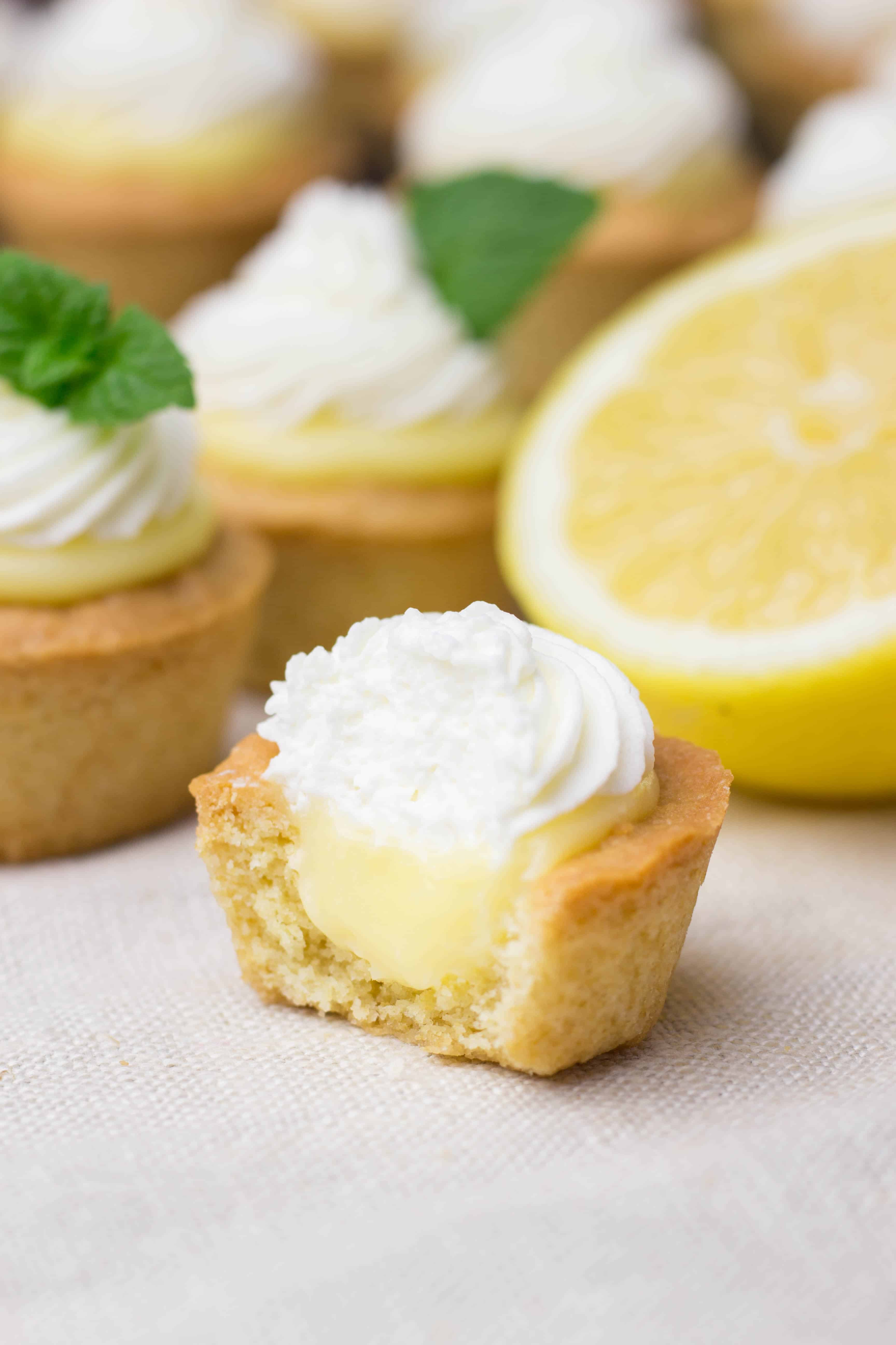Cookie Cups with Lemon Curd