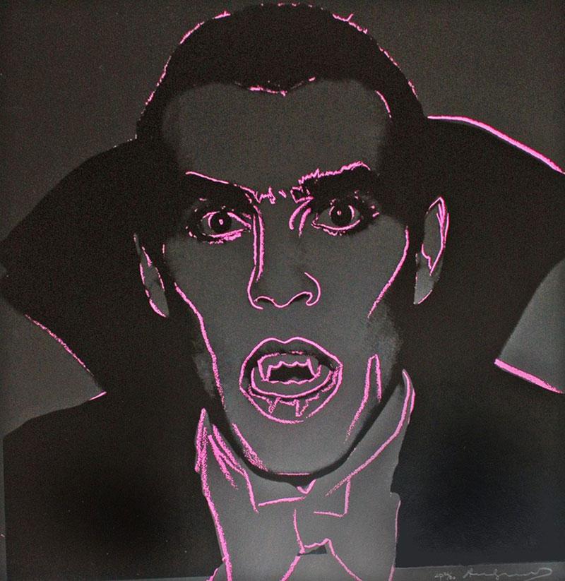 Sérigraphie d'Andy Warhol représentant Dracula