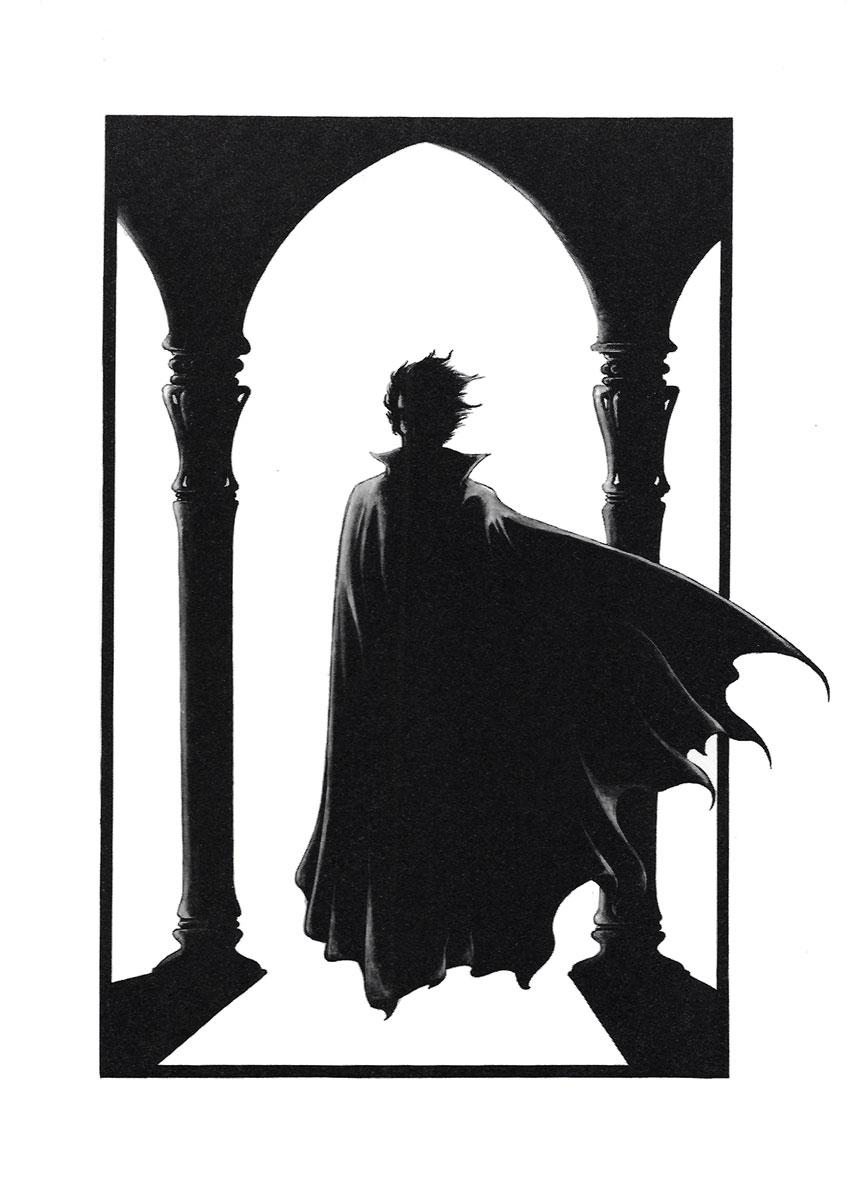 Dessin de Philippe Druillet représentant Dracula