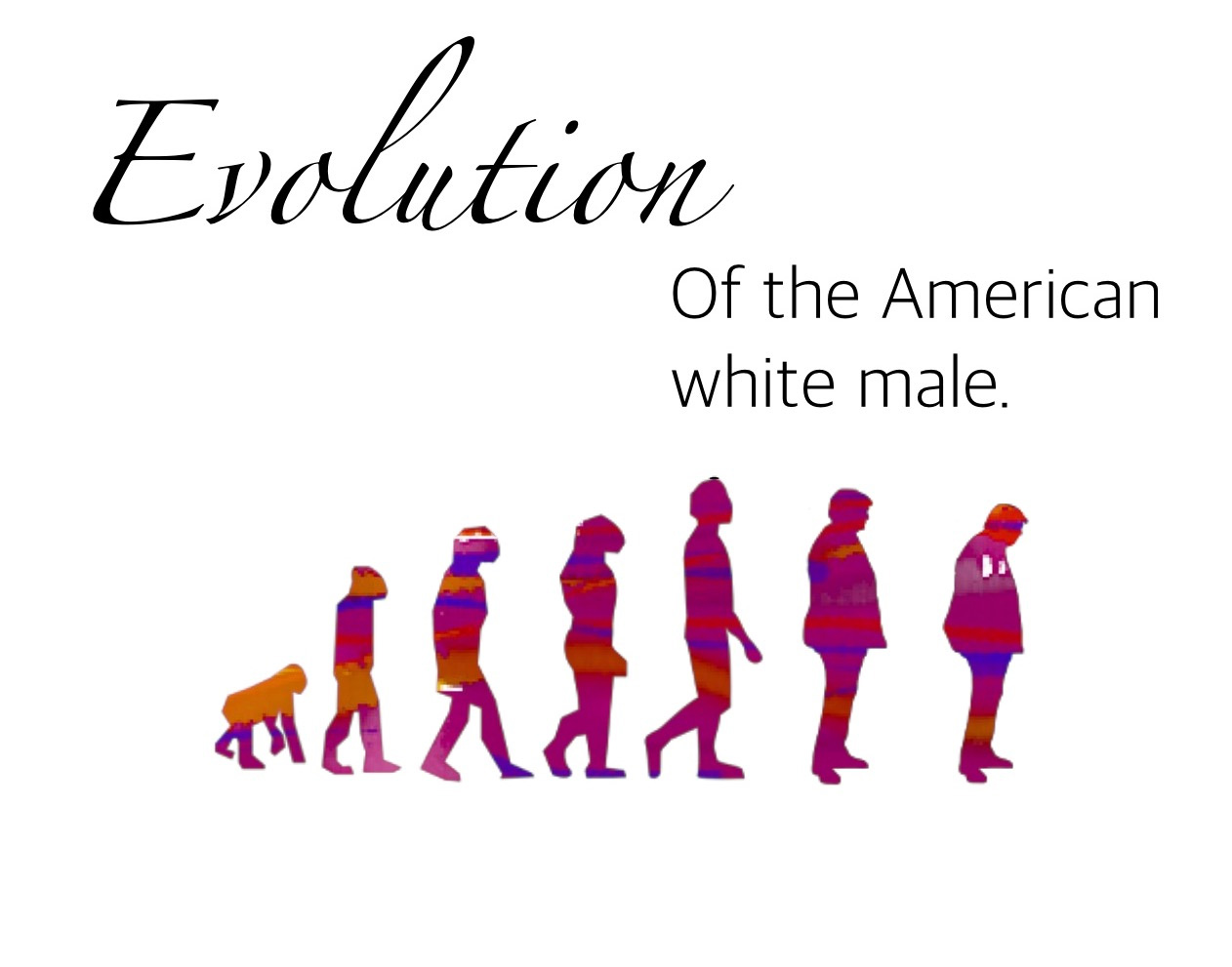Evolution of the American white male