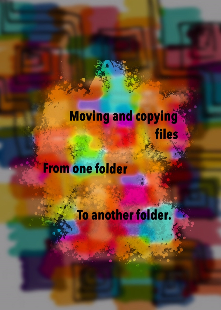 Macros to copy or move files from one folder to another