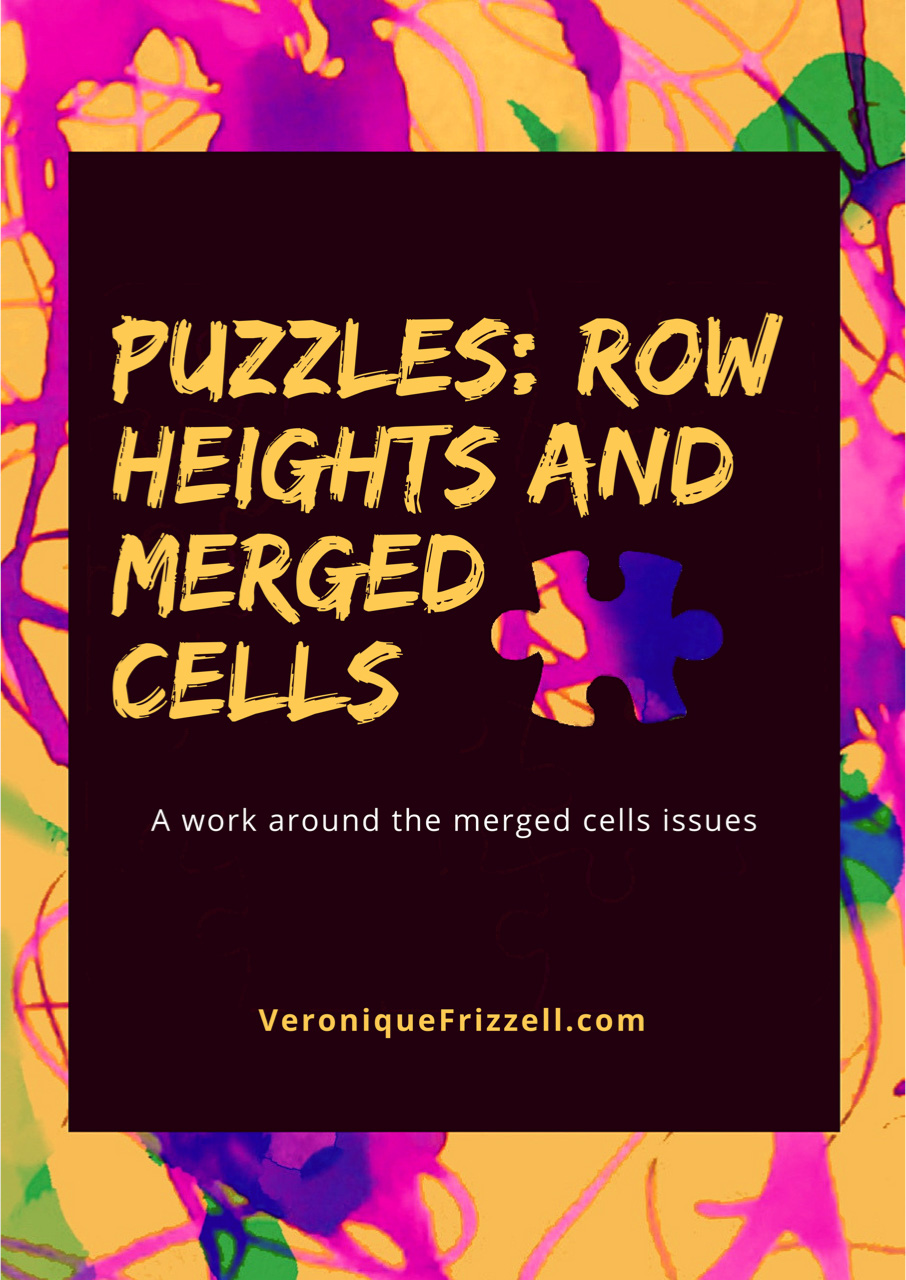 Excel: Row Heights and Merged Cells
