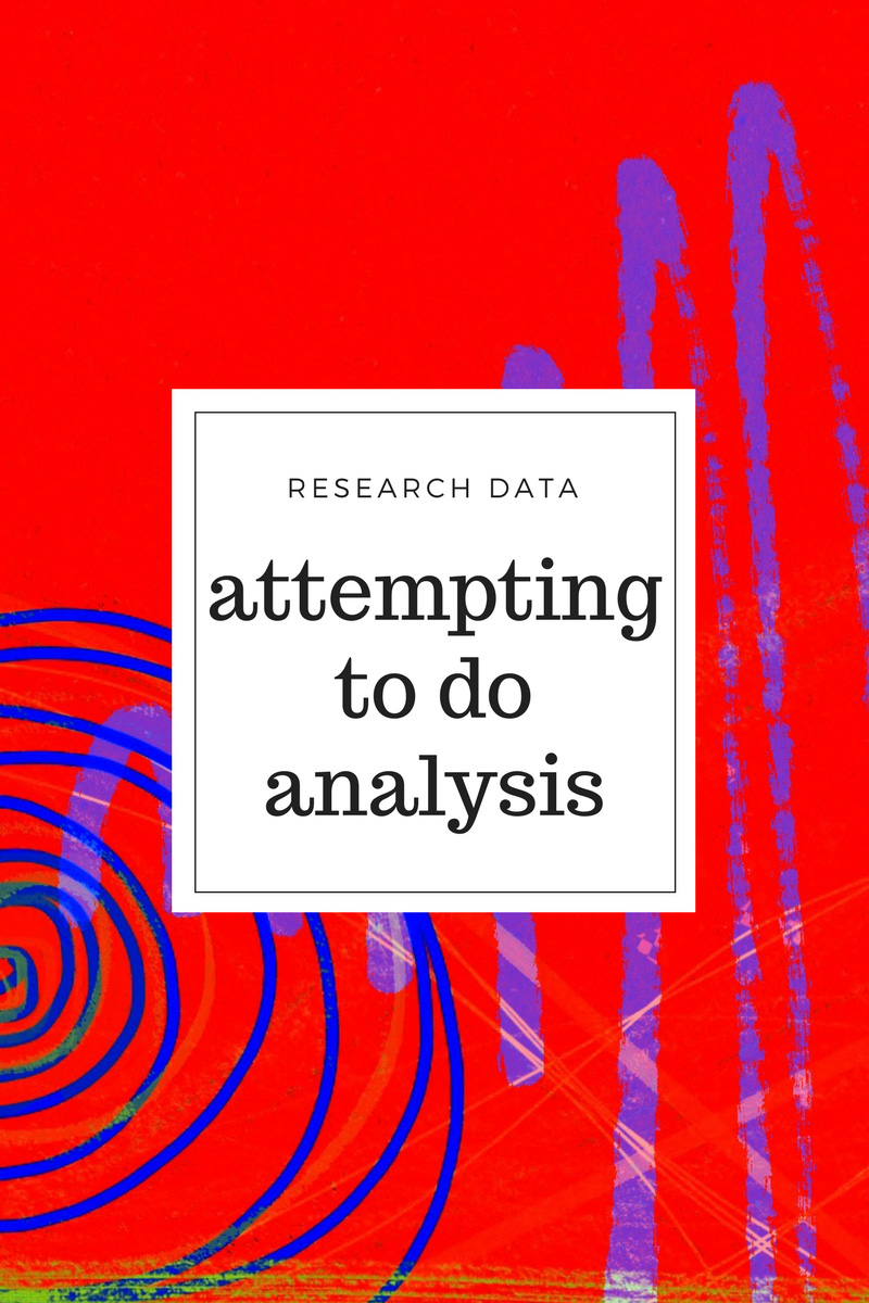 Research data - attempting to do analysis by using a form of heat map