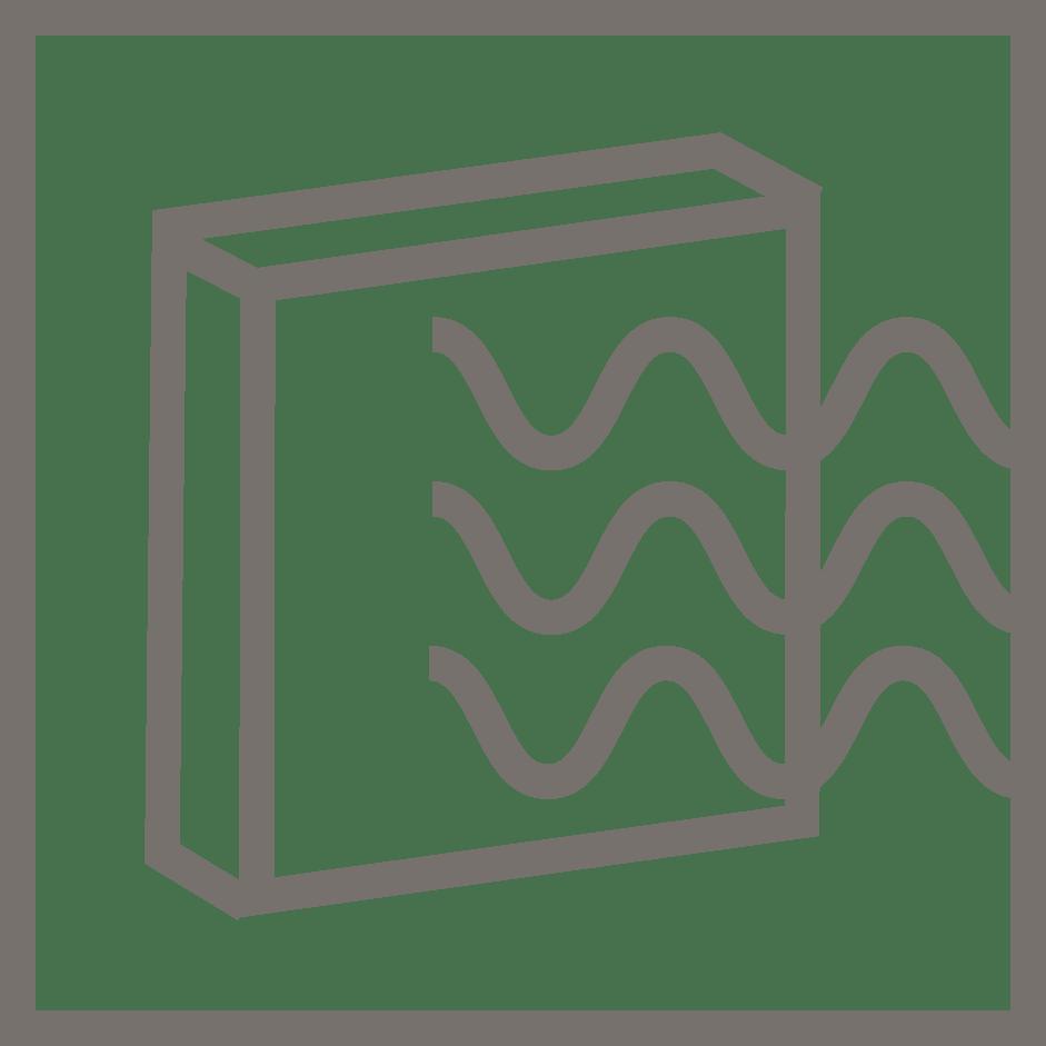 símbolo emisividad IR verosol naranja