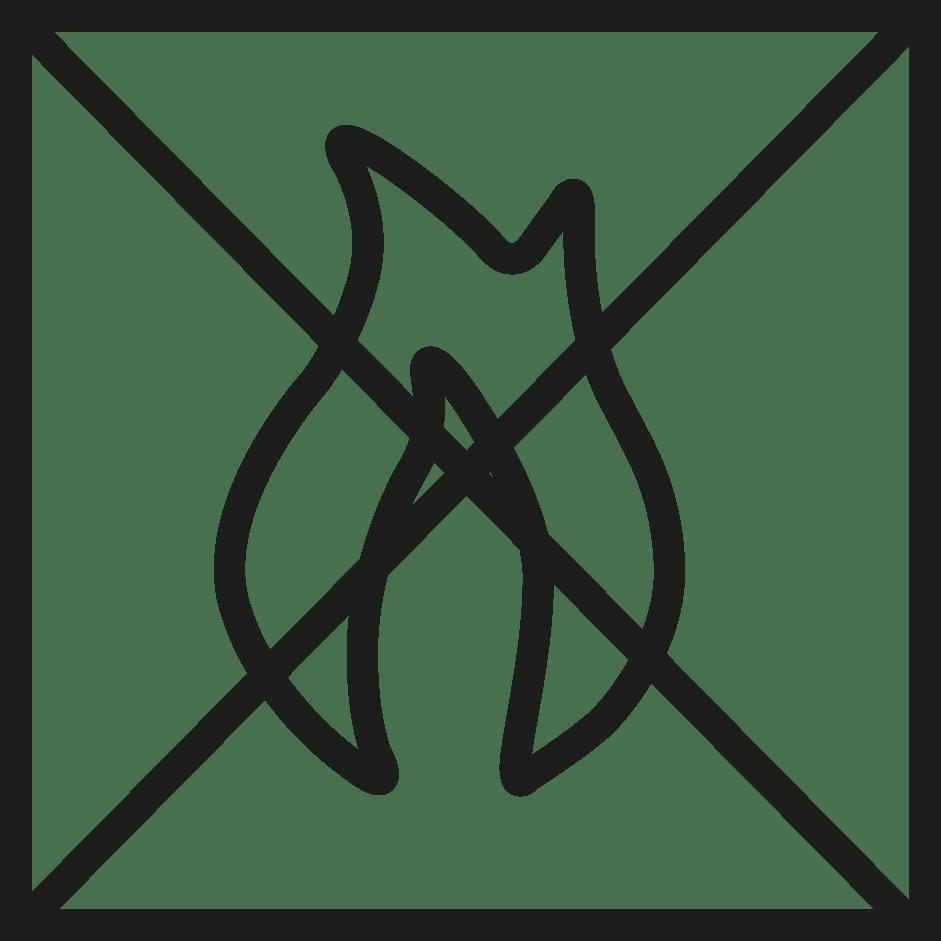 símbolo ignífugo verosol negro