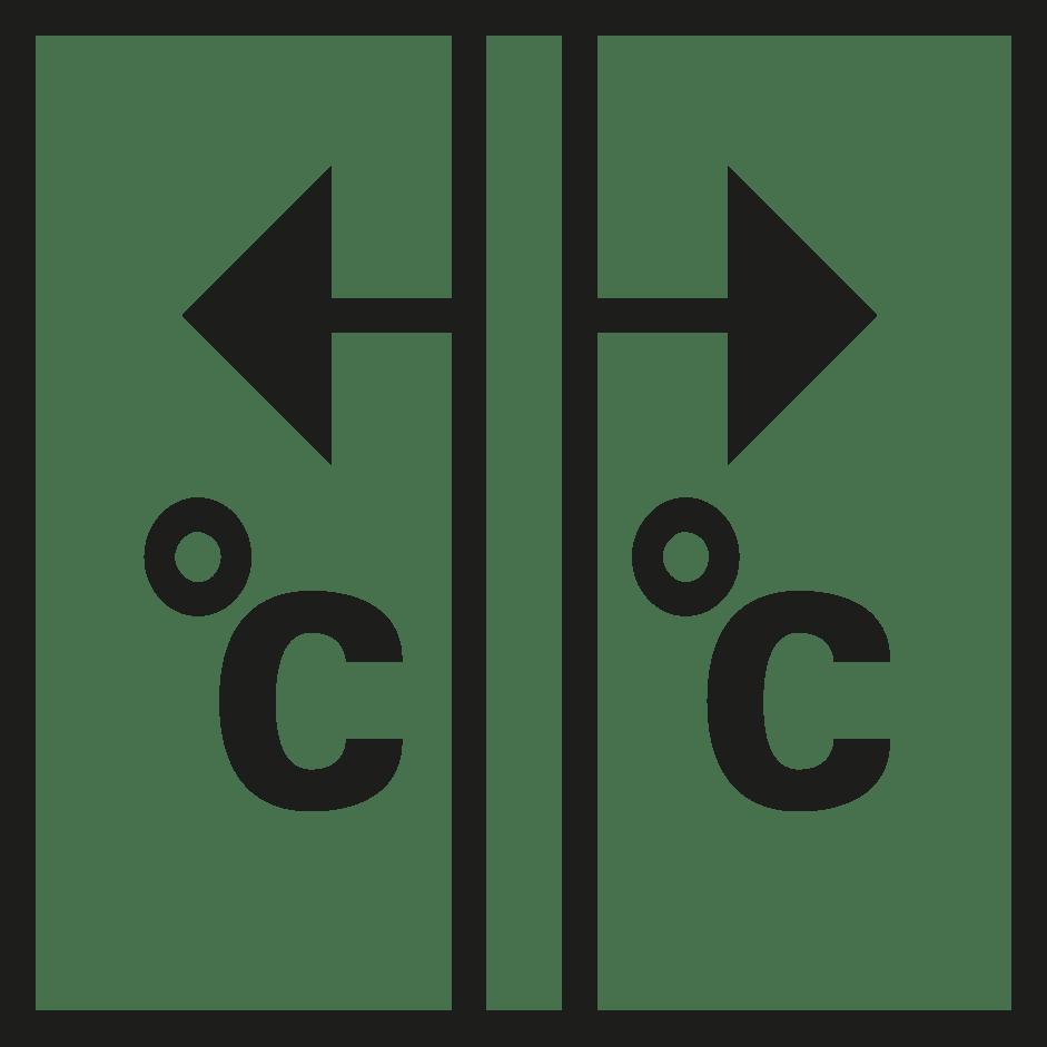 símbolo valor centígrados verosol negro