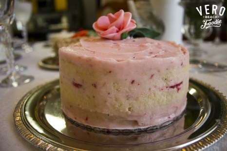 Side View of the Strawberry Vanilla Cake
