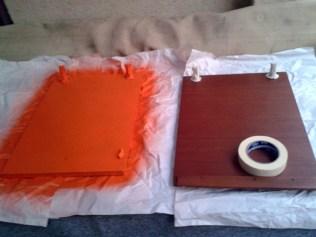 Hier der erste Sprühversuch mit wasserbasierter Farbe