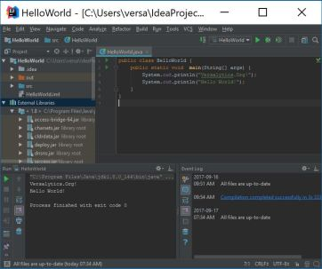 IntelliJ IDEA HelloWorld