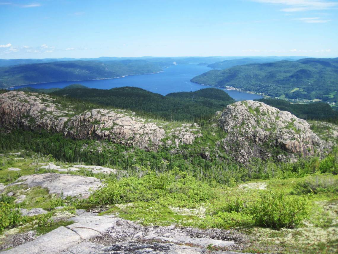 Photo de la montagne blanche au Saguenay pour notre article Top 5 randos moins achalandées au Québec