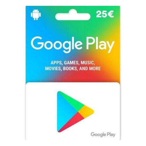 P - 25 Euros Google Play Store