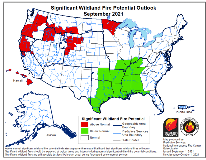 Wildland Fire Potential Outlook
