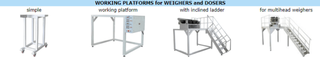 Working Platforms for Weighers and Dosers