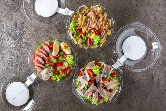 PET packaging Clear Plastic deli containers