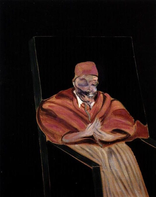 francis+bacon+-+study+for+a+pope+iv+1961+