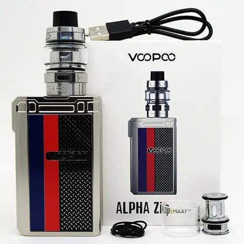 VooPoo Alpha Zip Kit Box Contents