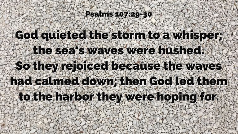 Verse Image for Psalms 107:29-30 - 16x9