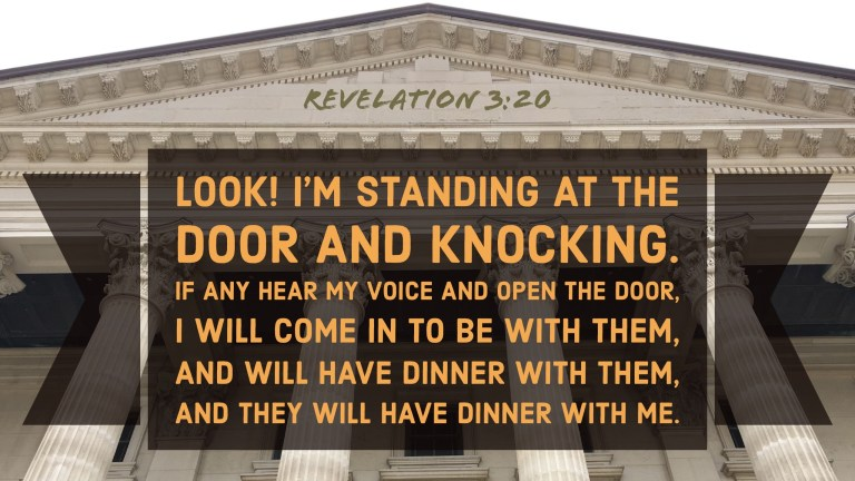 Verse Image for Revelation 3:20 - 16x9