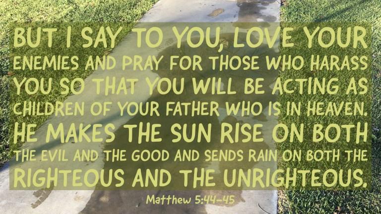 Verse Image for Matthew 5:44-45 - 16x9
