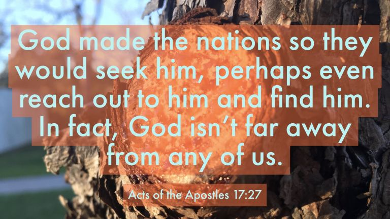 Verse Image for Acts of the Apostles 17:27 - 16x9