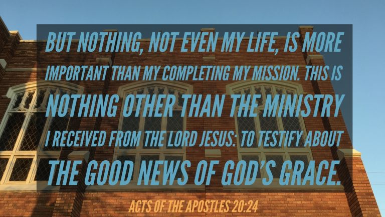 Verse Image for Acts of the Apostles 20:24 - 16x9