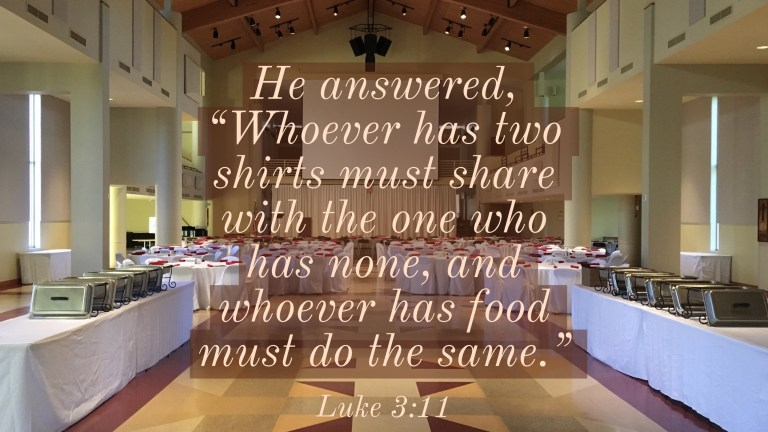 Verse Image for Luke 3:11 - 16x9
