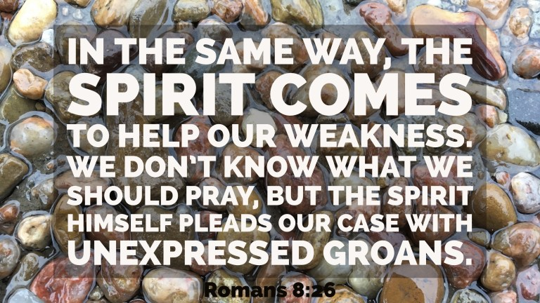 Verse Image for Romans 8:26 - 16x9