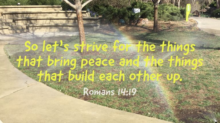 Verse Image for Romans 14:19 - 16x9