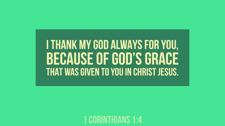 Verse Image for 1 Corinthians 1:4 - 16x9