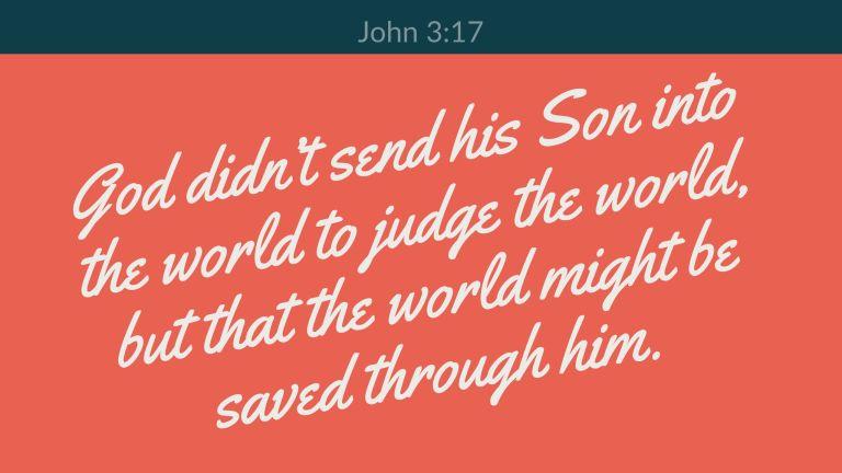 Verse Image for John 3:17 - 16x9