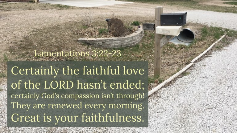Verse Image for Lamentations 3:22-23 - 16x9