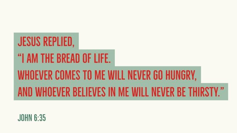 Verse Image for John 6:35 - 16x9