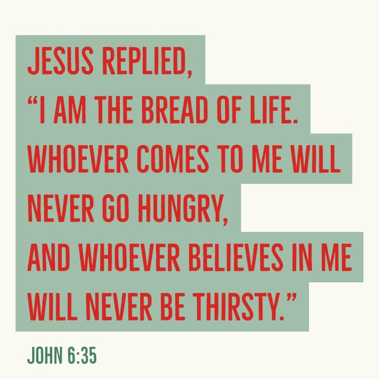 Verse Image for John 6:35 - 1x1