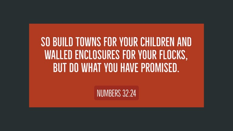 Verse Image for Numbers 32:24 - 16x9