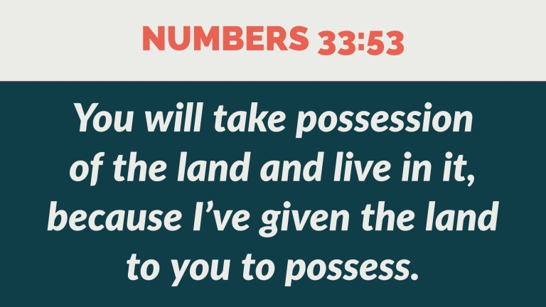 Verse Image for Numbers 33:53 - 16x9