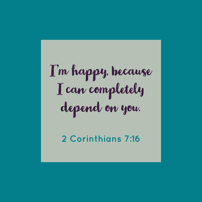Verse Image for 2 Corinthians 7:16 - 1x1