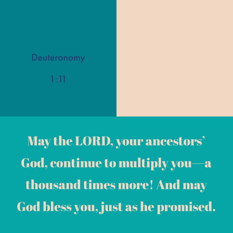 Verse Image for Deuteronomy 1:11 - 1x1